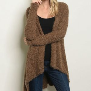 Cozy Casual Long open front sweater cardigan M/L